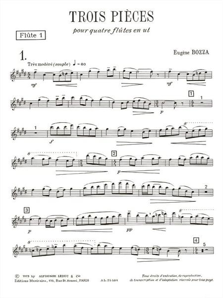 3 Pieces - 4 Flutes en Ut