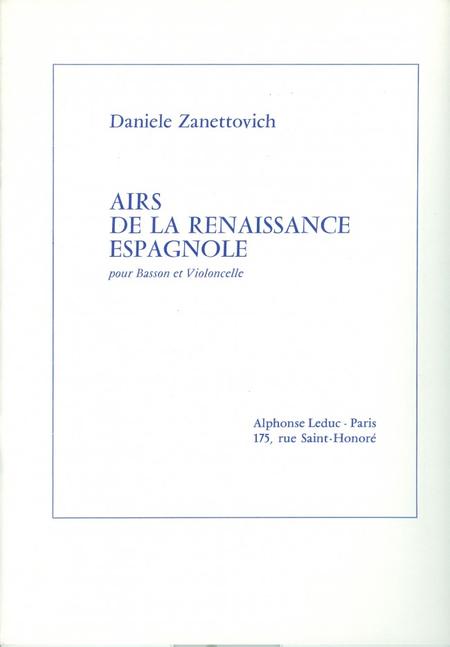 Airs de La Renaissance Espagnole Basson et Violoncelle