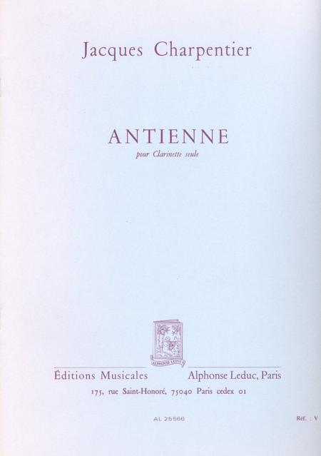 Antienne - Clarinette Seule