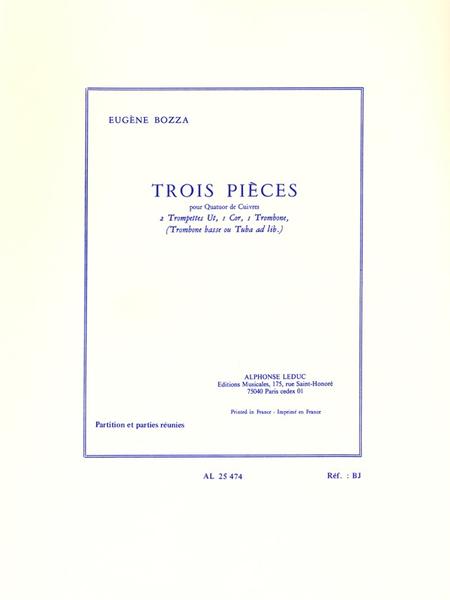 3 Pieces - Quatuor Cuivres
