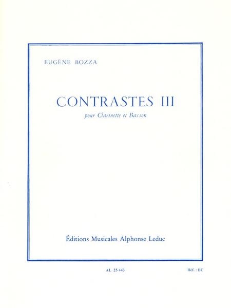 Contrastes 3 - Clarinette et Basson