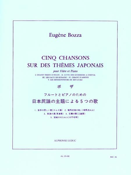 5 Chansons Sur Des Themes Japonais Flute et Piano
