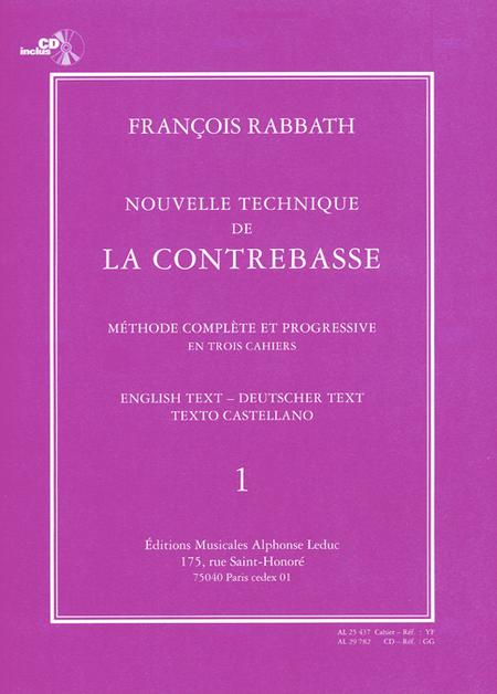 Nouvelle Technique De La Contrebasse Volume 1 (Avec CD)