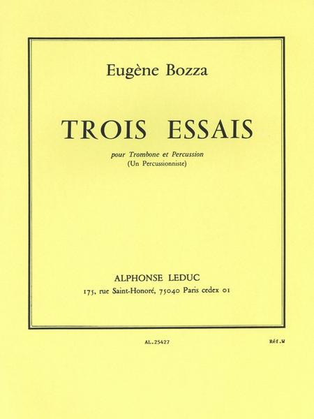 3 Essais - Trombone et Percussion