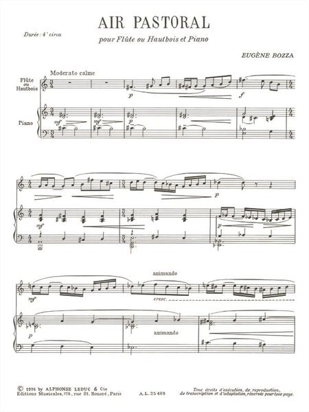Air Pastoral - Flute (Ou Hautbois) et Piano