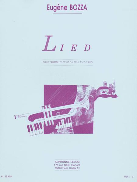 Lied - Trompette Ut Ou Sib Et Piano