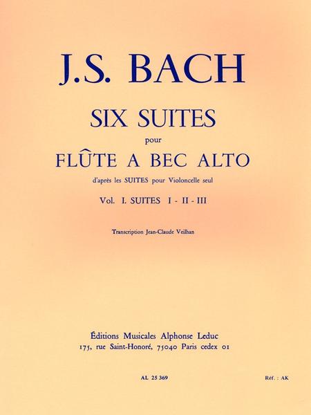 6 Suites (D'Apres Les Suites Pour Violoncelle) Volume 1:Suites 1-2-3 F.A B.Alto