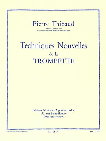 Technique Nouvelle de La Trompette (Version Francaise)