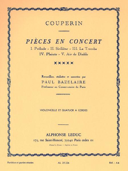 Pieces En Concert - Violoncelle Et Quatuor A Cordes