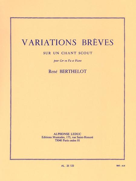 Variations Breves Sur Un Chant Scout Cor en Fa et Piano
