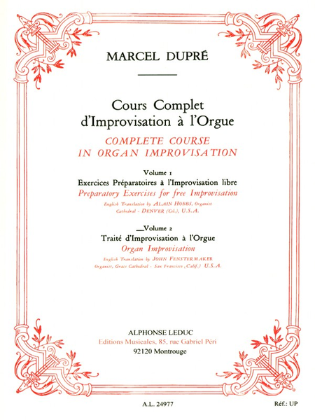 Cours Complet D'Improvisation a L'Orgue/V0L 2/Edition Anglaise(English Version)