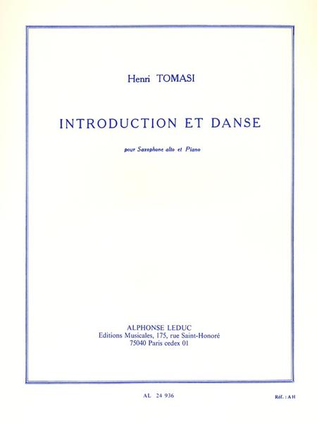 Introduction et Danse - Saxophone Mib et Piano
