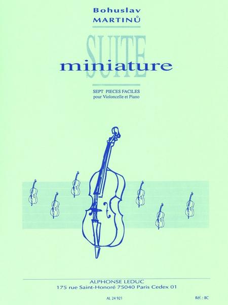 Suite Miniature - Violoncelle et Piano