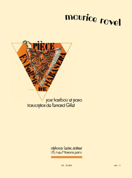 Piece en Forme de Habanera - Hautbois ou Cor Anglais et Piano