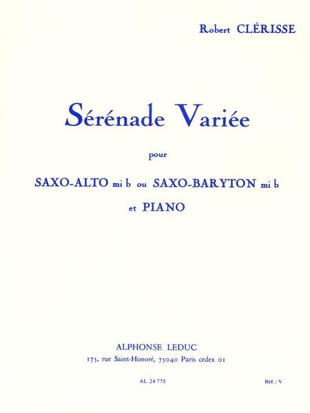 Serenade Variee - Saxophone Mib et Piano