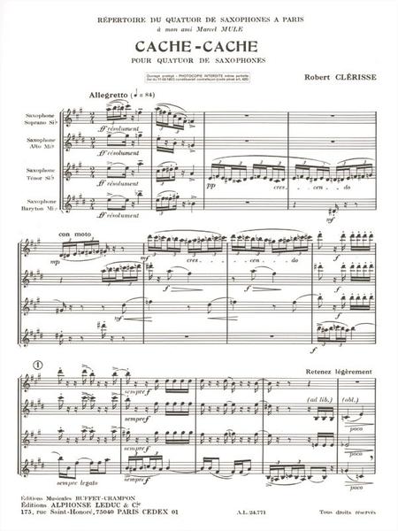 Cache-Cache - 4 Saxophones