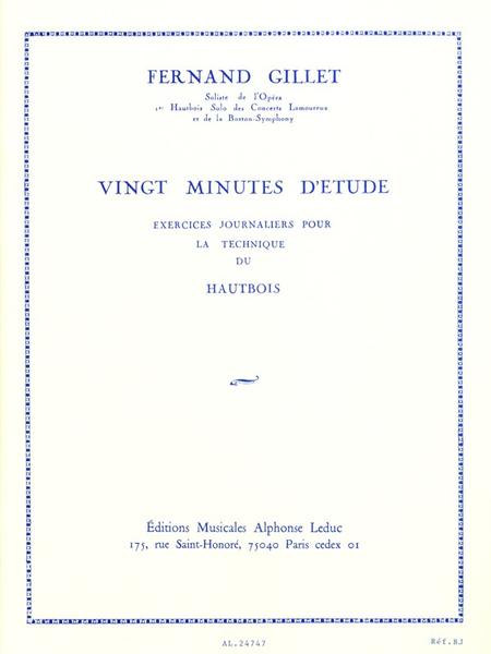 20 Minutes D'Etude - Hautbois