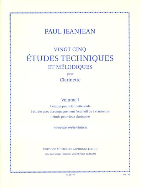 25 Etudes Techniques et Melodiques/Volume 1/Clarinette