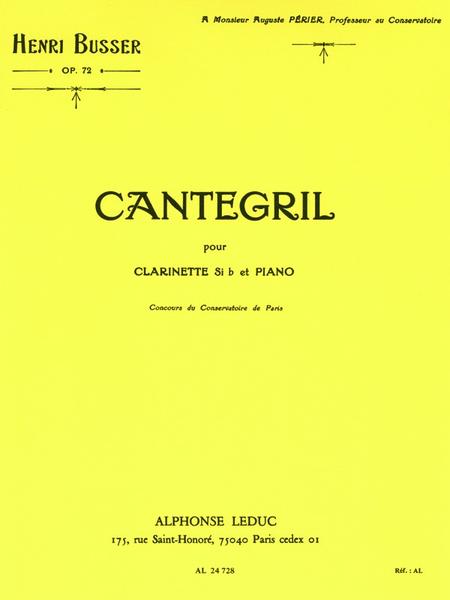 Cantegril Op72 - Clarinette Sib et Piano