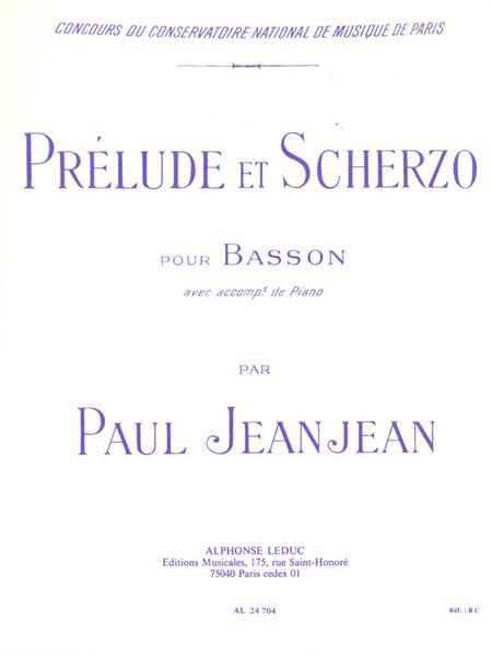 Prelude Et Scherzo - Basson Et Piano