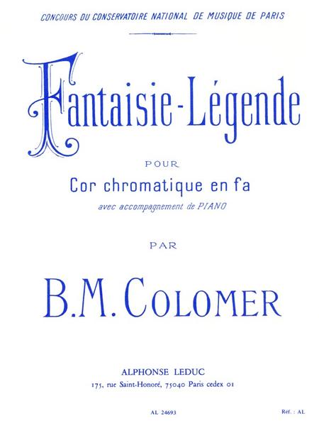 Fantaisie Legende - Cor en Fa et Piano