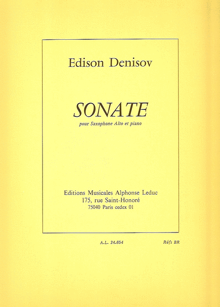 Sonate - Saxophone Mib et Piano