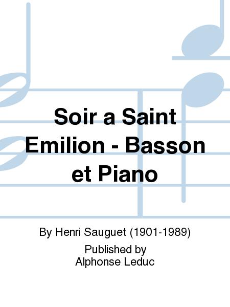 Soir a Saint Emilion - Basson et Piano