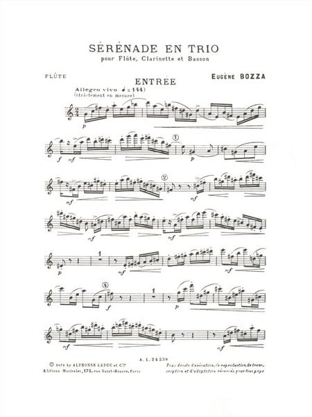 Serenade en Trio - Flute Clarinette et Basson