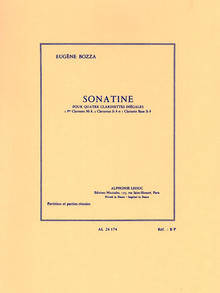 Sonatine - Ensemble Clarinettes