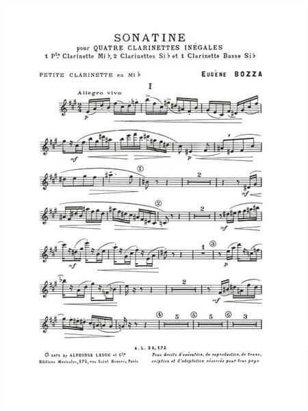 Sonatine - Ensemble Clarinettes