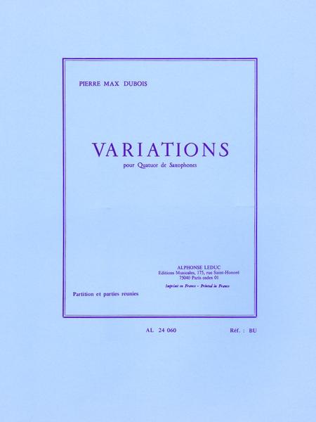 Variations - Quatuor de Saxophones