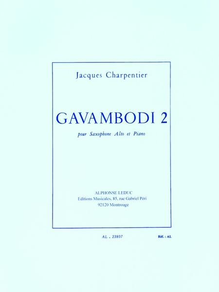 Gavambodi 2 - Saxophone Mib et Piano
