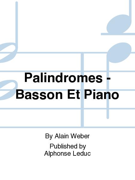 Palindromes - Basson Et Piano
