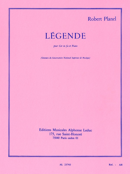 Legende - Cor en Fa et Piano