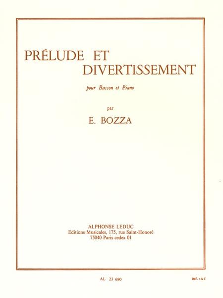 Prelude et Divertissement - Basson et Piano