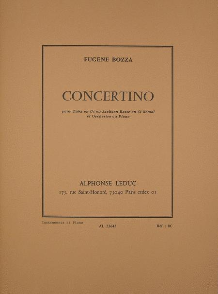 Concertino (Tuba et Orch) - Tuba Ut ou Saxhorn Basse Sib et Piano