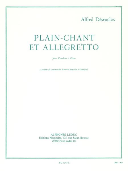 Plain-Chant et Allegretto - Trombone et Piano