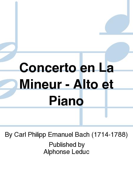 Concerto en La Mineur - Alto et Piano