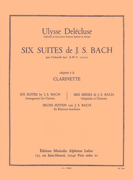 6 Suites (Pour Violoncelle) Bwv 1007/12 Clarinette Sib