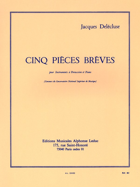 5 Pieces Breves - Percussions et Piano