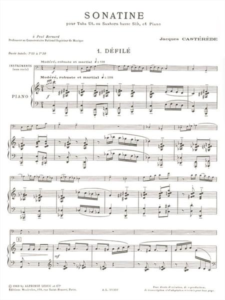 Sonatine - Tuba Ut ou Saxhorn Sib et Piano