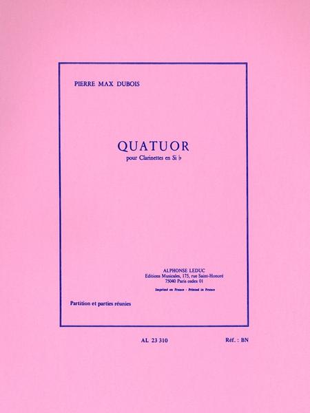 Quatuor - 4 Clarinettes Sib