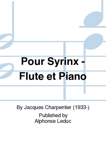 Pour Syrinx - Flute et Piano