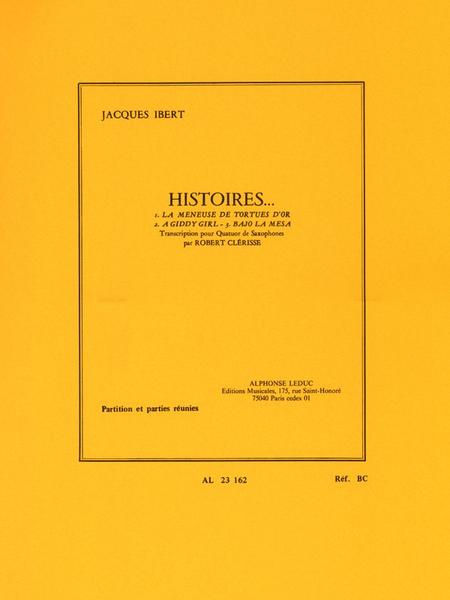 Histoires Recueil - 4 Saxophones