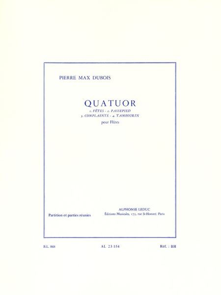 Quatuor - 4 Flutes