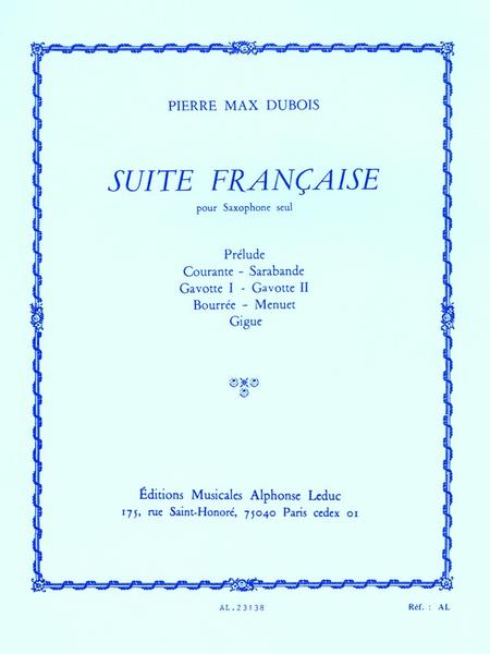 Suite Francaise - Saxophone Seul