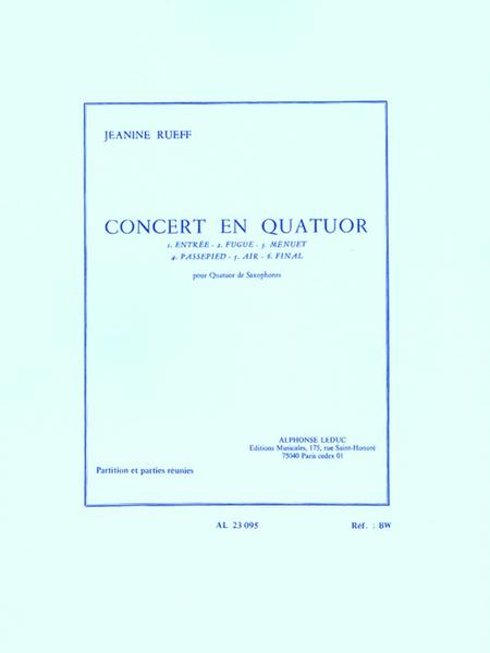 Concert en Quatuor - 4 Saxophones