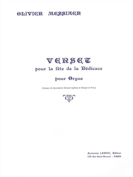 Verset Pour La Fete de La Dedicace Orgue