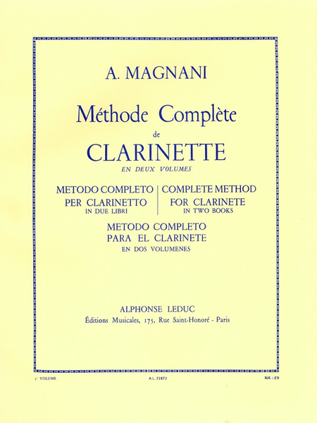 Methode Volume 2 - Clarinette