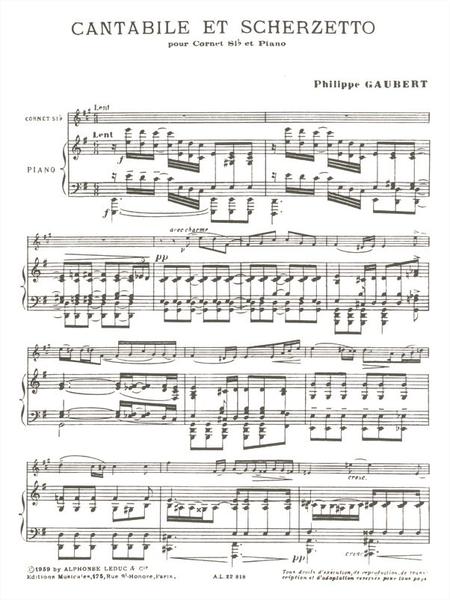 Cantabile et Scherzetto - Cornet Sib et Piano